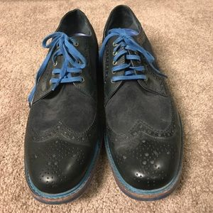 Cole Haan Navy Oxfords Size 12
